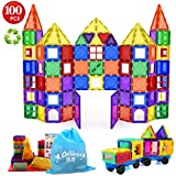 Children Hub 100pcs Magnetic Tiles Set - Building Construction Toys For Your Kids (Upgraded Version)