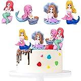 SUNSK Decoración para tartas de Sirena Adorno para tarta de Cumpleaño Topper Tarta Infantil Cake Topper Niña Pastel Topper Si