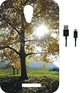 BKDT Marketing Printed back Cover for Lava Iris X1 Selfie with Charging Cable