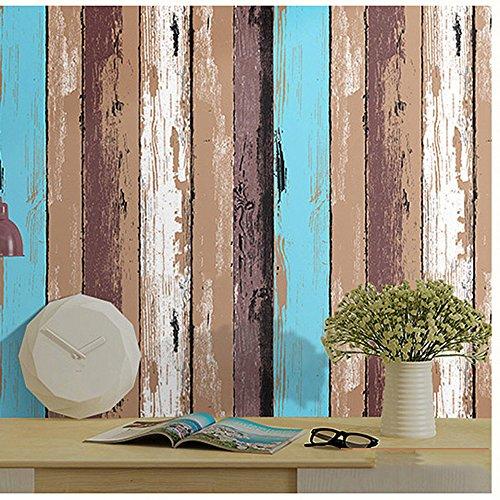 Panneau de bois décoratifs Motif Contact papier autocollant Shelf Liner Peel et bâton papier peint haute qualité pour meuble de cuisine Countertop étagères projets d'artisanat 61 x 300 cm