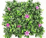 Wonderland Artificial Vertical Garden, Gardening Mat / Mats With Leaves & Purple Flowers For Covering Wall, Vertical Garden