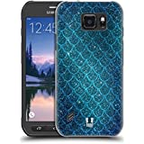 Head Case Designs Glitters Mermaid Scales Hard Back Case for Samsung Galaxy S6 active
