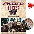 Appenzeller Hits - Bekannte Appenzeller Stücke für Steirische Harmonika in Griffschrift - Notenbuch von Renato Allenspach mit CD und bunter herzförmiger Notenklammer