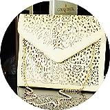 Trendige Damenhandtasche Mini Clutch Vintage Kleine Tasche Abendtasche Umhängetasche