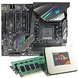 AMD Ryzen 7 2700X / ASUS ROG Strix X470-F Gaming Mainboard Bundle / 16GB | CSL PC Aufrüstkit | AMD Ryzen 7 2700X 8X 3700 MHz, 16GB DDR4-RAM, GigLAN, 7.1 Sound, USB 3.1 | Aufrüstset | PC Tuning Kit