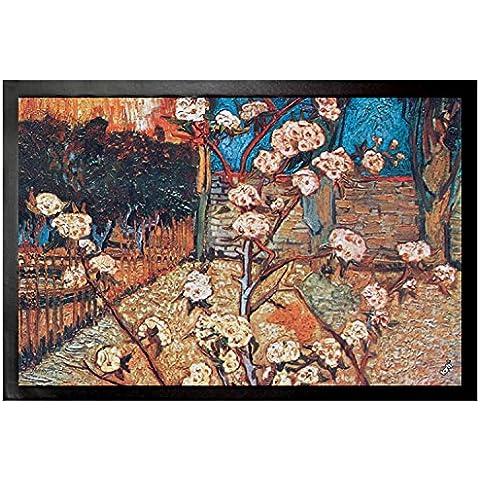 Vincent Van Gogh - Arbol De Pera En Flor, 1888, Detalle Felpudo Alfombrilla (60 x 40cm)