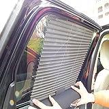 Moonvvin Auto Vorhang, Plissee Vorhang Seite Fenster Auto Sonnenschutz Vorhang Mesh Shield Stretch Sun Block New (3Farben zufällig)