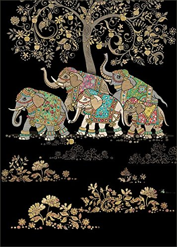 Bug Art Blank Birthday Greeting Card BA1247 Five Elephants