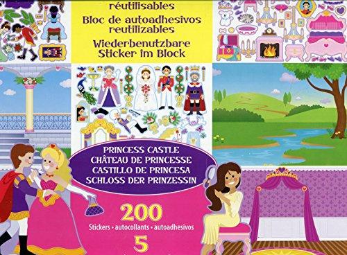 Melissa & Doug Wiederbenutzbarer Stickerblock - Prinzessinnenschloss (200 Sticker)
