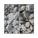 Granit Splitt Zierkies Hellgrau 63/120 Kiesel Garten Deko Granitsplitt 25 kg Sack