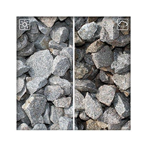 Granit Splitt Zierkies Hellgrau 63/120 Kiesel Garten Deko Granitsplitt 10 kg Sack