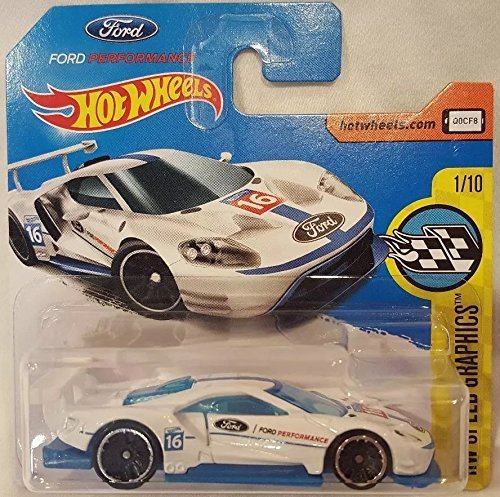 2017 Hot Wheels HW Speed Graphics 2016 Ford GT Race White 247/365 (Short Card)