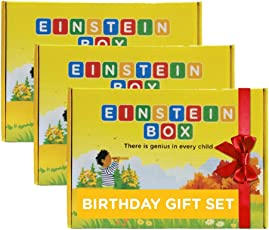 Einstein Box Birthday Gift for 4 to 6 Year Old Boys and Girls (Multicolour, 4ABC) - Set of 3