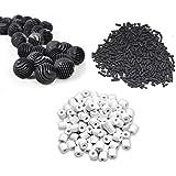 NEW HORIZON AQUARIUM ACCESSORIES ®-23 Pieces Bio Balls with Sponge Inside+500g Activated Carbon+500g Ceramic Rings