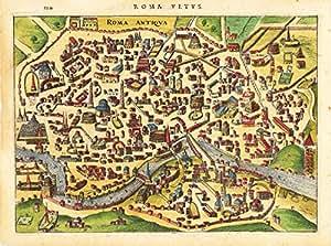 Poster - Mappa antica - Roma cm 50 x 70