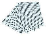 folia 5930 Fotokarton mit Punkten (50 x 70 cm, 10 Bogen) blau/weiß