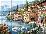 The Tile Mural Store - Villagio Dal Lago - Kitchen SplashBack / Bathroom wall tile mural