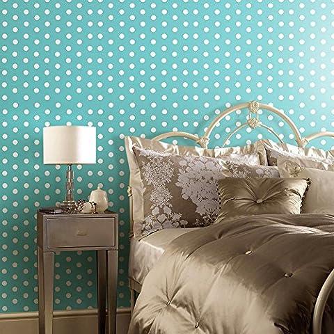 Dot Pattern Tailorable Wallpaper Sticker Home Art Decor Selbstklebende wasserdichte PVC 122 * 53cm 5 Farben , blue
