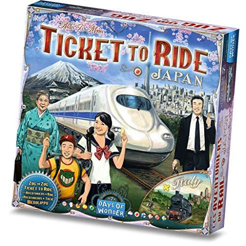 Days of Wonder DOW720132 Ticket to Ride Collection Carte du Japon et de l'Italie Volume 7 Couleurs mélangées