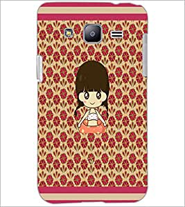 PrintDhaba Cartoon Girl D-2661 Back Case Cover for SAMSUNG GALAXY J2 (Multi-Coloured)