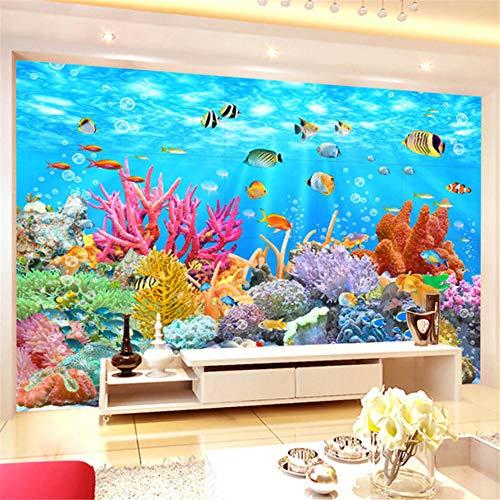 Pbldb carta da parati murale 3d personalizzata carta da parati con fondali marini di corallo sfondo del mondo parete murale carta da parati 3d camera per murales per camerette-350x250cm