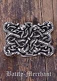 Cinturón Hebilla–Serpiente Wesen en wikingerzeitlichen Urnes estilo de LARP gürtelschließe Vikingo Medieval Plata o bronce plata