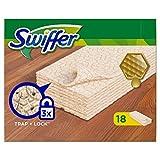 SWIFFER Pqt 18 Lingettes sèche'boiserie & parquet' à la cire d'abeille