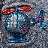 Zierstoff Bügelapplikation, Patch, Hubschrauber, Blau