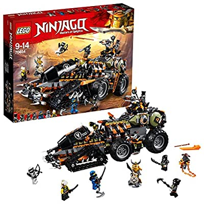 LEGO 70654 Ninjago Dragon Hunters Dieselnaut Toy Tank, Ninja Warriors Vehicle, Building Sets for Kids
