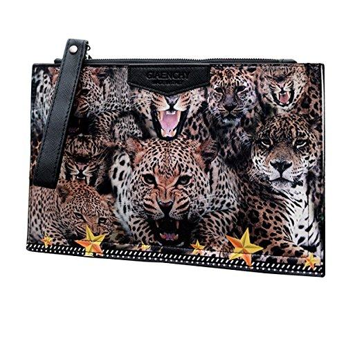 Milya Schultertasche Handtasche Umhängetasche Damen tasche Reisetashe Schule Tasche Rucksack Crossbody Bag Tote Handtasche Clutch Abendtasche Leopard-Kopf