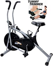 Body Gym Air Bike Stamina Helps(Free Tummy Trimmer) for Easily Loss Your Weight at Home