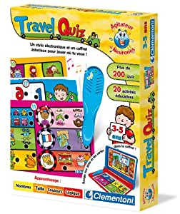 Clementoni - 62335.8 - Jeu Educatif et Scientifique - ADN - Travel Quizz