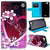 GrandEver PU Leder Handy Tasche für Wiko Pulp 3G Folie