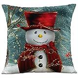 1c53a6f4b1 Hangood Divano Federa Cuscini Flanella Decorazioni per la Casa Natale  pupazzo di neve 45cm x 45cm