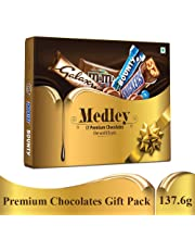 SNICKERS Medley Assorted Chocolates Diwali Gift Pack (Snickers, Bounty, M&M's, Galaxy), 137.6g