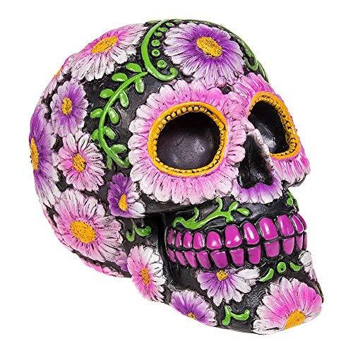 Nemesis Now Figura Skull Sugar Pétalo (Morado/Negro)
