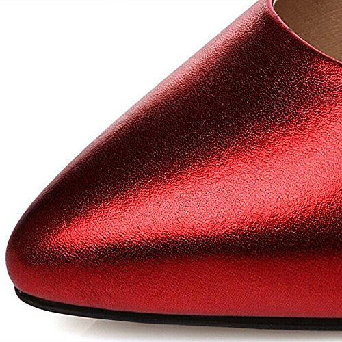 Zeppe Tacchi Alti Spessi Soled Ladies Altezza Casuale Alzando Scarpe Scarpe Da Pioggia Estate Chaussure Red