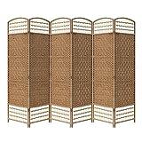 Yahee Raumteiler Trennwand Paravent 6tlg Umkleide Sichtschutz spanische Wand Metall