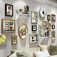HJKY Bilderrahmen Wand Im Europäischen Stil Wohnzimmer Wand Bilder Kreative  Vitrinen Die Wand Frame Wand Kombination