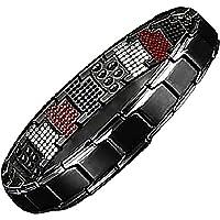 FLQY Doppelmagnet breites Titan-Magnettherapie-Armband, abnehmbares Titan-Stahl-Magnettherapie-Armband, ultrastarkes…