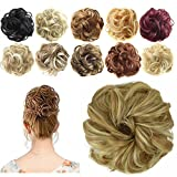 FESHFEN Scrunchy Scrunchie Bun Updo Hairpiece Hair Ribbon Ponytail Messy Hair Bun Extension Donut Hair Chignons Wig by FESHFEN