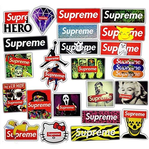 Jaglo 23pcslot Supreme Stickers For Car Laptop Motorcycle Skateboard Luggage Decal Toy Sticker Waterproof