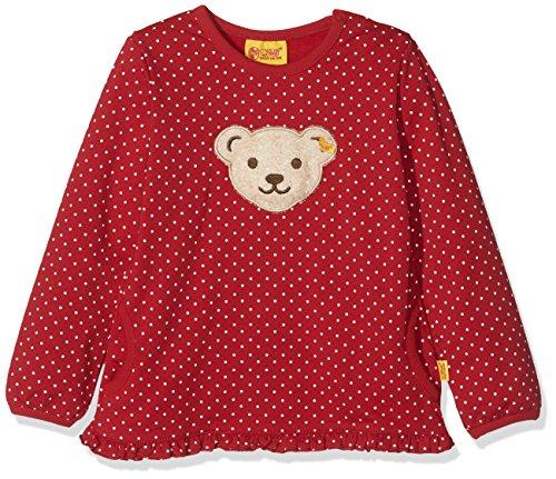 Steiff Baby-Mädchen Sweatshirt 1/1 Arm, Rot (Allover|Multicolored 0003), 68