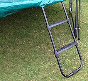 Premium Ladder for 10ft Trampolines (Universally Fitting with Wide Tread Steps)