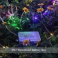 GDEALER 10M 100er LED Bunte Lichterkette 8 Modi Außen Batteriebetrieben IP65 mit Fernbedienung für Outdoor, Innenbeleuchtung, Garten, Hochzeit, Party, Weihnacht und Haus weihnachts deko von GDEALER