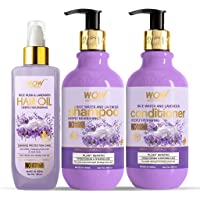 WOW Skin Science Rice Water & Lavender Ultimate Hair Care Kit - consists of Shampoo + Hair Conditioner + Hair Oil - Net…