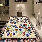 Wapel Sand-Stein Farbe 3d Stereo der Boden des Badezimmer Wohnzimmer Schlafzimmer Hall Etagen Tapete 300 cm x 210 cm