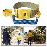 OFKPO 2 m Anti-perdida Cinturón Arnés de Seguridad Anti-Lost Correa de Cintura con Cerradura para Niños, Azul
