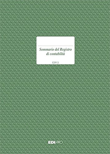 SOMMARIO DEL REGISTRO DI CONTABILITA' EDIPRO E2913
