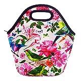 Acelane Neopren Wärmeschutz Lunch-Bag im Kunstdesign mit Tragetaschengriff für Frauen, Kinder, Mädchen, großes Pack, Größe 20 x 15 x 16 cm (A6)